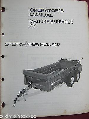 New Holland 791 Manure Spreader Operators Manual  Nh