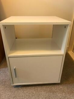 White rectangular TV cabinet