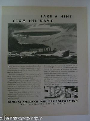 Vintage 1931 General American Tank Car Corp. Original Print Ad
