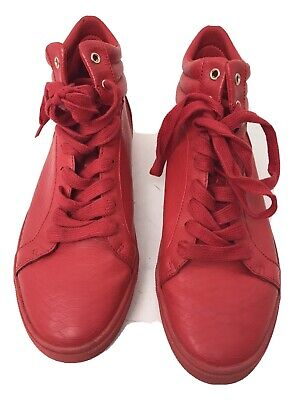 ZARA MEN RED HIGH TOP SNEAKERS SHOES SIZE EU 41