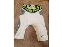 Mens Small Nike Pro Combat Baseball Compression Sliding Shorts Dri Fit MLB White