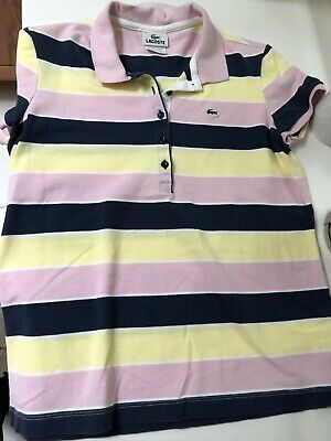 lacoste womens polo shirt size 42