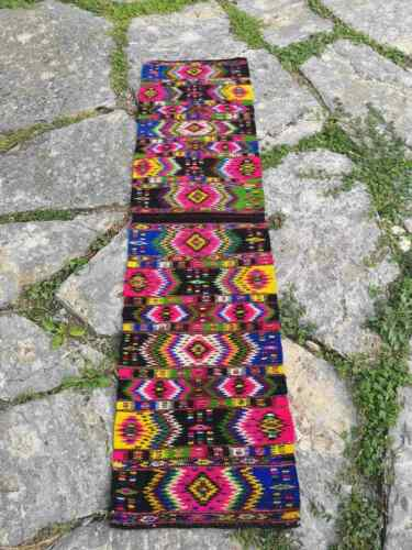 Hand woven Debarsko Pole ethnic pattern table runner, unique pattern ethnic text