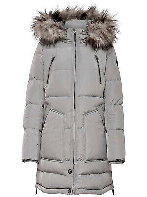 Only Damen Daunen Mantel Winter Jacke NewRhoda Fellkragen Kapuze XS S M L XL (Down Coat Kapuze Damen)