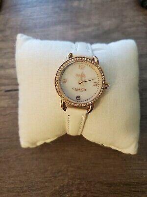 Women's Coach Watch White Calfskin W1472 - New In Box