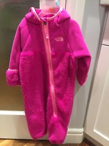 Girls North Face Winter Suit 6-12 months