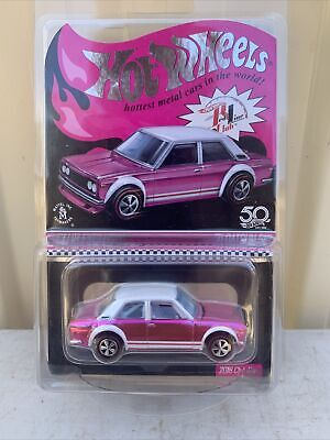 A12 1/64 Pink 71 Datsun 510 Rlc Limited Hot Wheels Red Line 2018 Club Exclusive