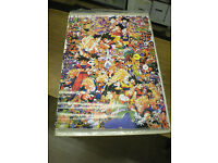 x1 1989 Dragonball Z Character Collage Poster 26 x 39 in VINTAGE