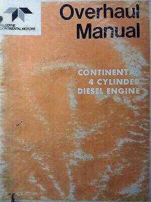 Continental 4 Cylinder Diesel Engine Major Service Repair Manual Zd Hd Gd Ed Jd