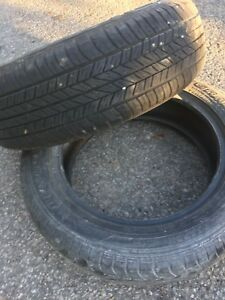 TWO DUNLOP ST20 M&S 215/60R17 95H