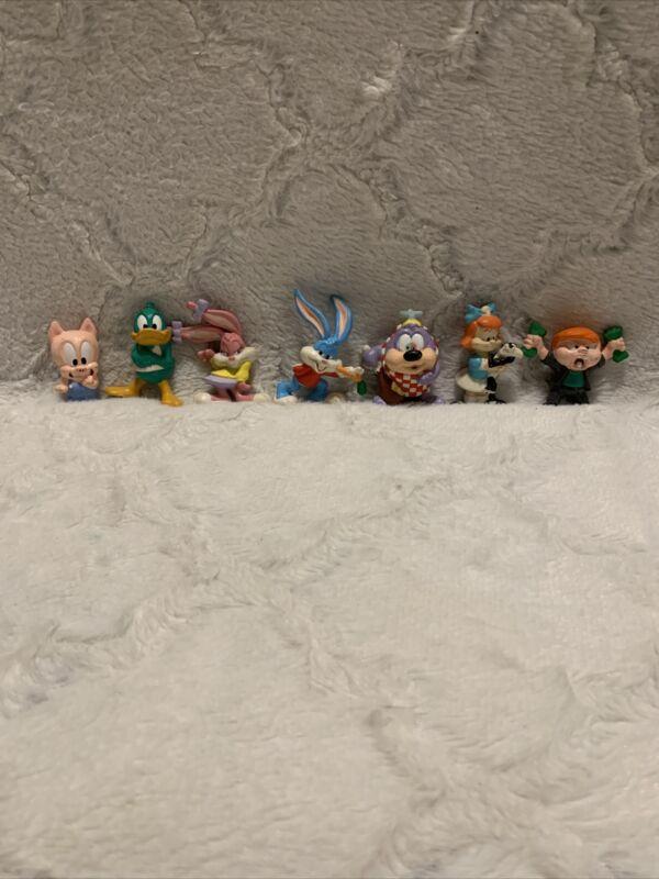 VTG 1991 Tiny Toon Adventures Mini Figures Lot 7 Babs Buster Dizzy Elmyra Hamton