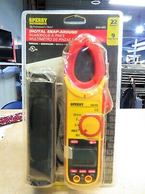 New Sperry Instruments Digital Multimeter Dsa600trms 12 Function True Rms Clamp