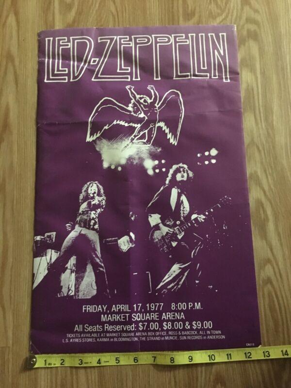 Rare 1977 Led Zeppelin Market Square Arena Poster