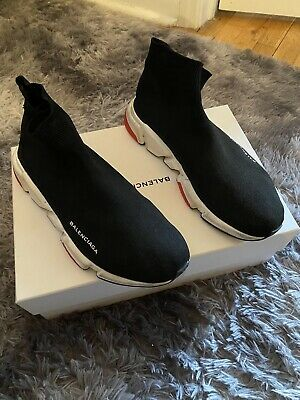 Balenciaga - Speed Trainer - Mid Sock Men's - Black/White/Red - Size 10US / 43IT