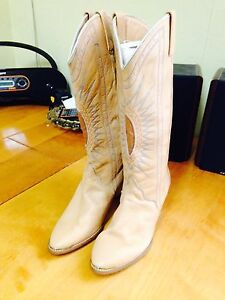 Vintage Ladies Size 9 M Acme Western Boots, Real Leather US Made