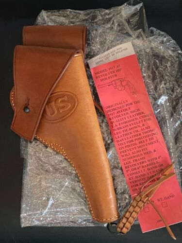 U.S. Military M1917 Leather Holster Stamped G. & K. 1918 A.G. Reproduction