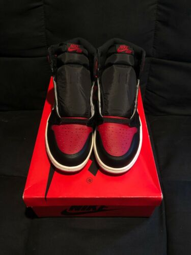 """NEW 2018 Nike Air Jordan 1 Retro High OG """"Bred Toe"""" Size 9.5 DS REPLACEMENT BOX"""