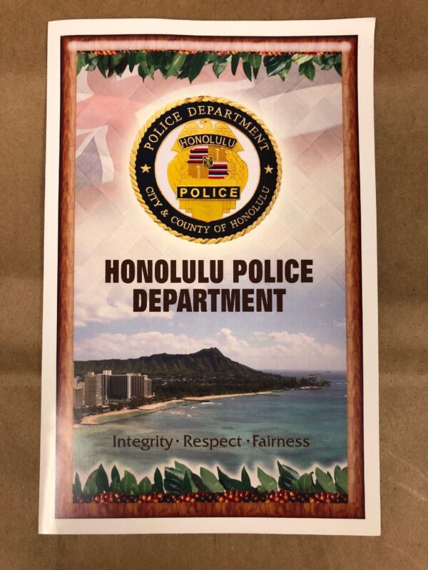 Honolulu police department HPD Honolulu County Patch Seal With History Phamplet