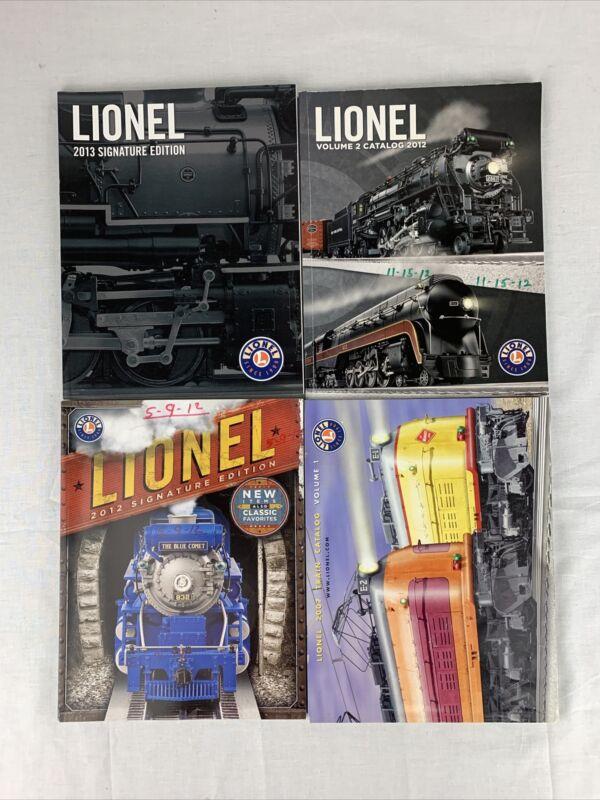 LOT OF 4 VINTAGE LIONEL TRAIN CATALOGS 2007-2012 MODEL TRAIN CATALOGS