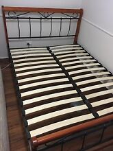 Wooden queen size bed frame Paddington Brisbane North West Preview