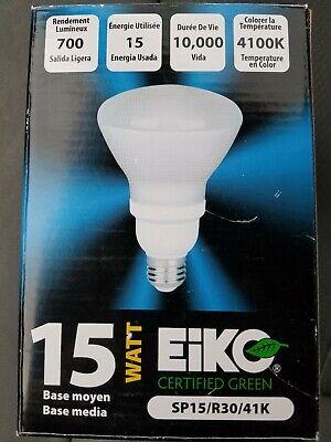 41k Compact Fluorescent Light Bulb (Eiko 49366 - R30/15/41K Flood Screw Base Compact Fluorescent Light)
