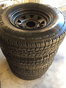 4 x SUNRAYSIA 5x150 RIMS WITH 235/85 R16 A/T TYRES Paralowie Salisbury Area Preview