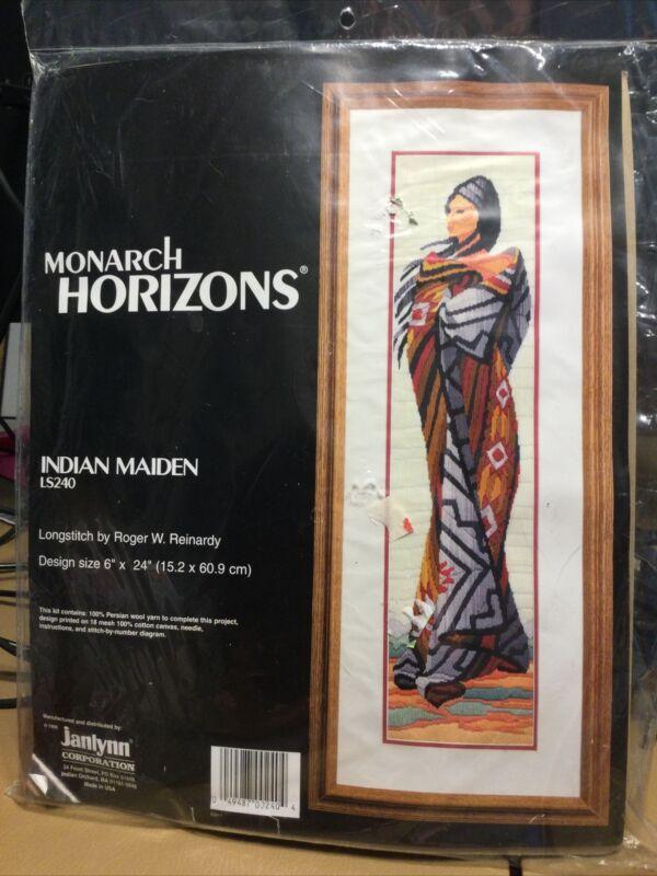 VTG 1996  Monarch Horizons Longstitch Indian Maiden RARE HTF