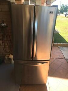 LG stainless steel fridge Springwood Logan Area Preview