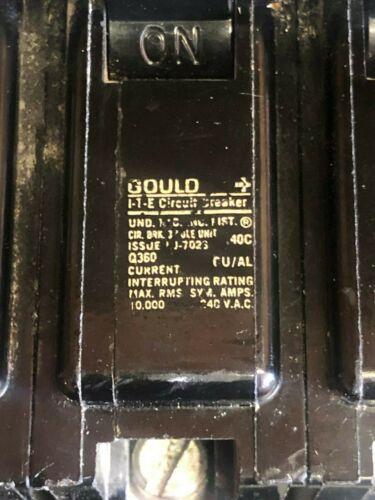 Gould Circuit Breaker Q360 60 A 3 Pole 240VAC