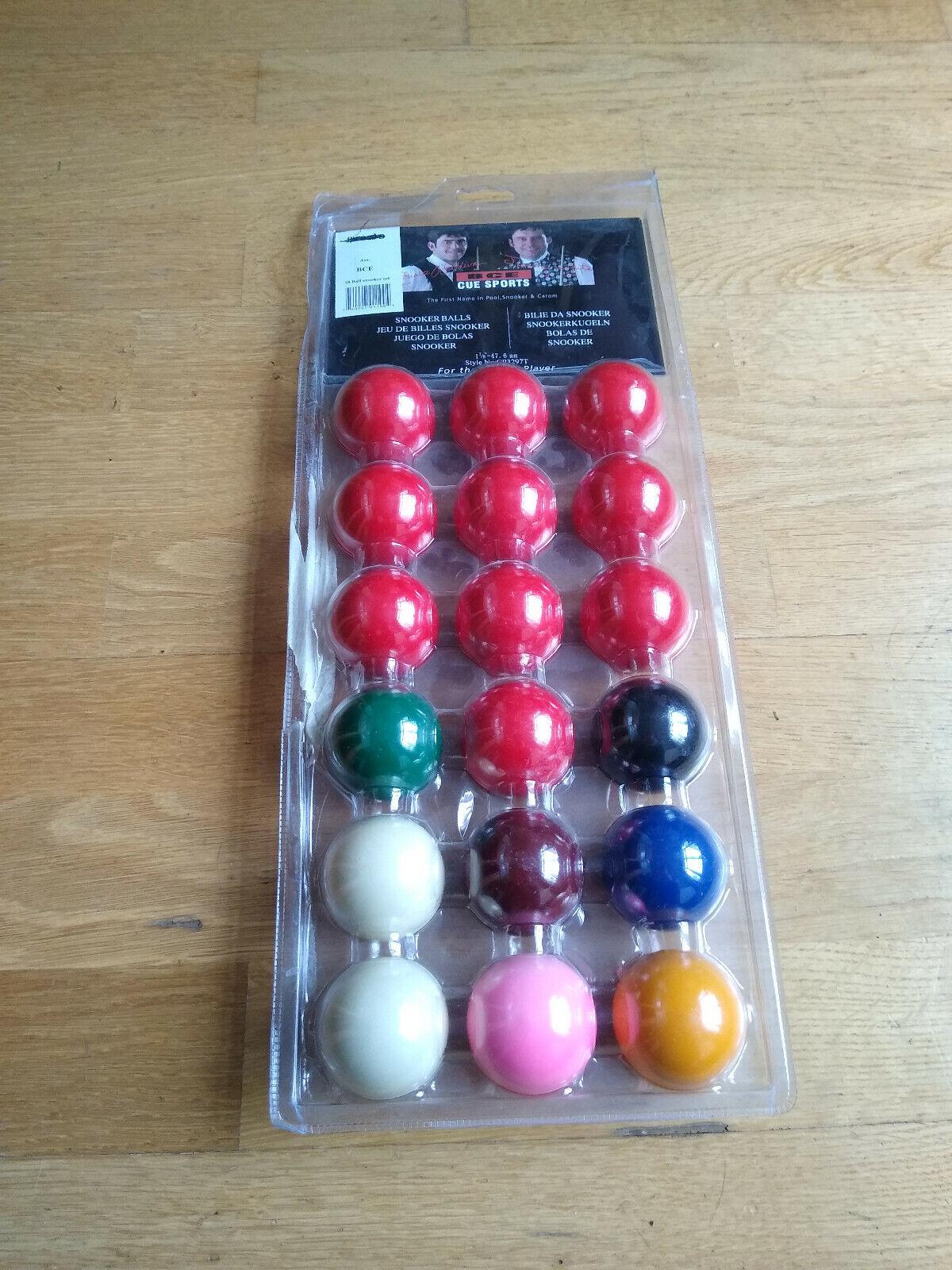 snooker balls 1 7/8 Hardley ever used