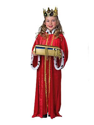 Kostüm für Kinder Königsmantel Rot Gr.140/152 Karneval Kostüm (König Kostüme Für Kinder)