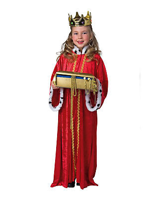 Kostüm für Kinder Königsmantel Rot Gr.140/152 Karneval Kostüm ()