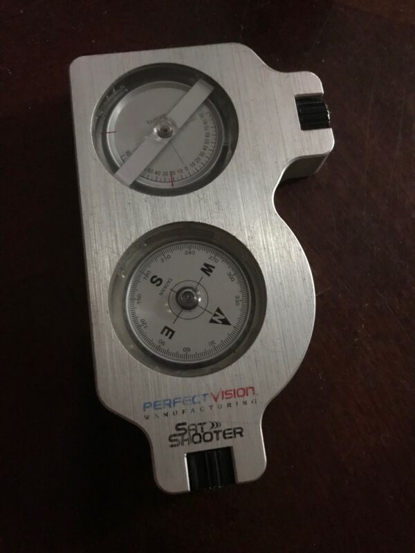 Perfect Vision Sat Shooter inclinometer compass.... slightly used with case