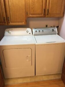 Kenmore series 600 top load washer and electric dryer