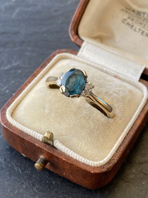 Vintage Tanzanite And Paste Yellow Gold Ring.