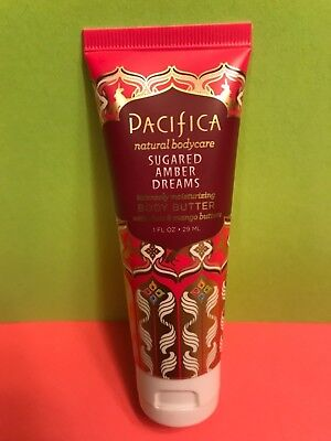 Pacifica Sugared Amber Dreams Body Butter Natural Bodycare Shea Travel 1oz SEAL! Pacifica Natural Body Butter