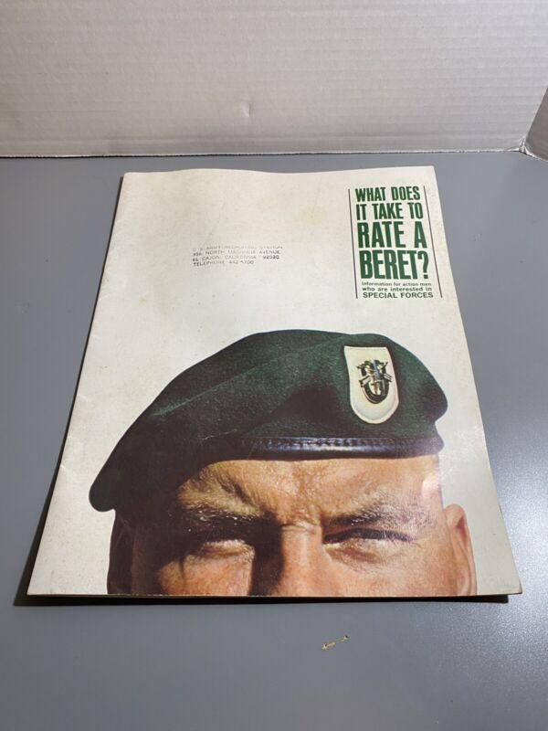 VTG 1966 Green Beret Recruitment Brochure Vietnam War
