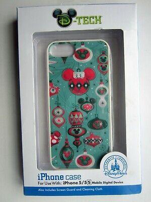NEW Disney Parks Authentic D-Tech Christmas Theme - iPhone 5/5S Case