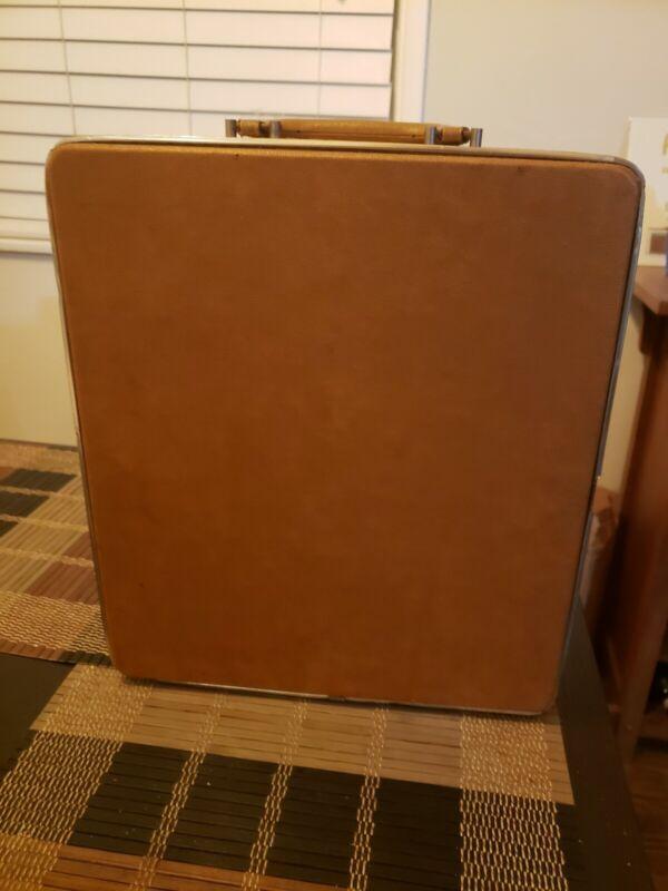 Vintage Mid Century looking Leatherish Travel Bar Set/case