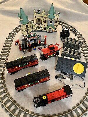 LEGO MOC Harry Potter Hogwarts holiday Christmas Train 4708 9v Volt Engine Track