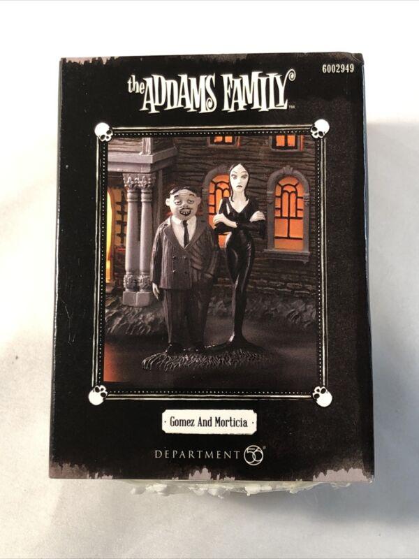 Department 56 Addams Family Gomez and Morticia Figurine (6002949) RARE HTF