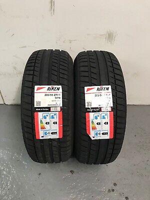 2 x 205/55 ZR16 Riken (Michelin) Road Performance 94W XL 205 55 16 - TWO TYRES