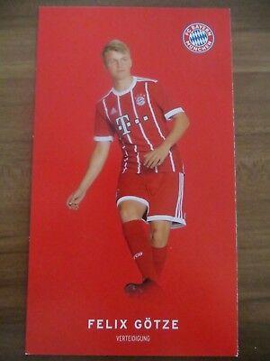 Autogrammkarte AK *FELIX GÖTZE* FC Bayern München 17/18 2017/2018 Deutschland