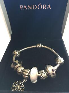 Pandora silver bracelet and Michael Hill Charms