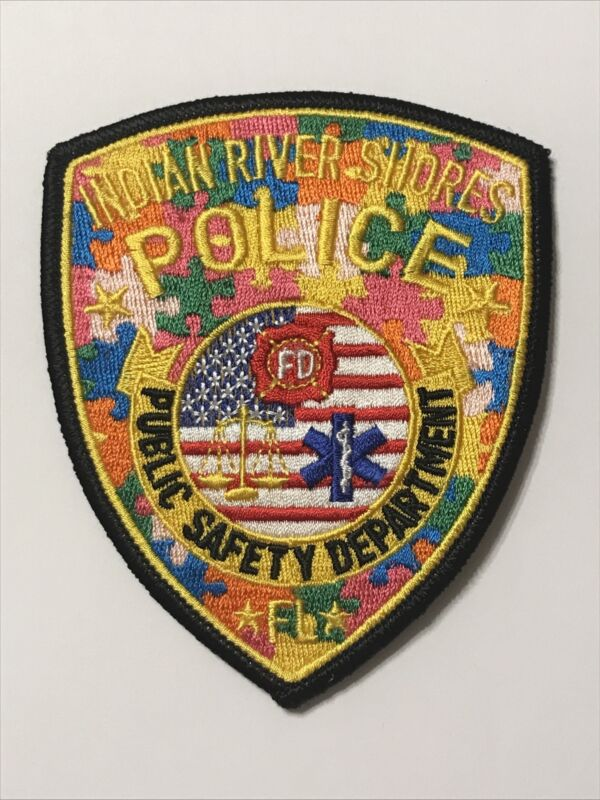 Indian River Shores Florida Dept of Public Safety Police Autism Awareness Patch