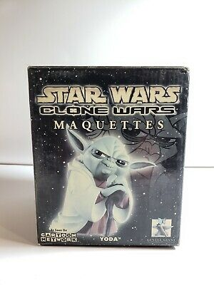 2004 Gentle Giant Star Wars Clone Wars Maquettes Animated Yoda Cartoon Network