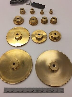 32 Pitch Solid Brass Spur Gears Diy Gears Boston Ma. Maker Robot Reducer Box