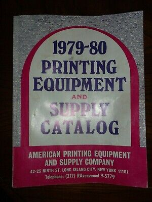 Vintage 1979-80 Printing Equipment And Supply Catalog Letterpress Type