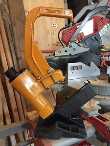 Bostitch industrial flooring stapler.