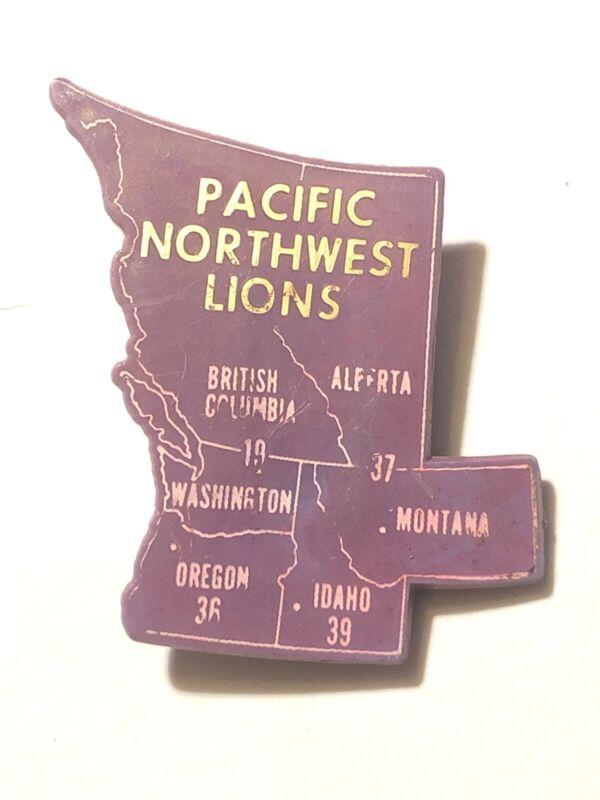 1958 Pacific Northwest BC Washington Oregon Idaho Alberta Montana Lions Club Pin